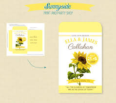 sunflower seed wedding favors printable sunflower seed packet favor diy shower