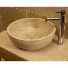 round sink bowl travertine stone round basin stone tile market