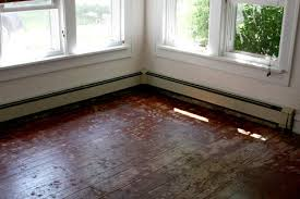 painting a floor before after lori s painted floor design sponge