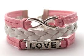 bracelet gift images Infinity bracelets love bracelets infinity love bracelet pink