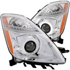anzo usa toyota prius 04 09 projector headlights chrome w halo
