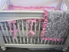 Damask Crib Bedding Sets Baby Nursery With Lime Green Wall Paint Color And Black And