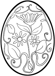 easter egg coloring page free download