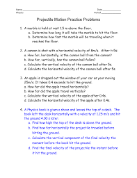 Hit The Floor Names - name date physics period projectile motion practice problems a