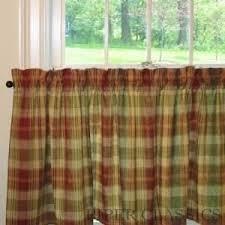 Saffron Curtains Saffron Collection Window Tier Curtains 36 Country Green