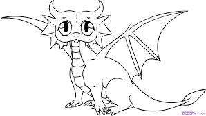 cute baby dragon coloring pages for kids cga printable dragons