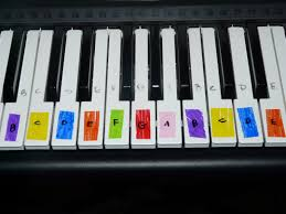 learning piano with lego duplos and color coded they