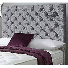 crystal double 4ft6 headboard in a crushed velvet fabric fast