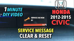 service due soon a12 honda civic honda civic service message reset 1 minute diy