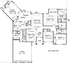 Single Story House Plans Without Garage One Story Floor Plan Make Bedroom 2 The Study Somehow Get 2 More