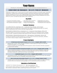 Construction Manager Sample Resume by Sample Construction Resume Free Resume Example And Writing Download