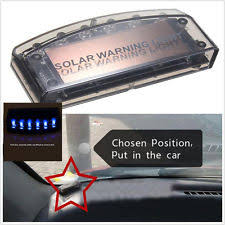 security led lights car security warning car auto sensor 6 led solar power vibration flash