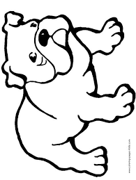 bulldog dogs puppy animal coloring pages color plate coloring