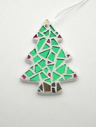 mosaic ornaments for tree rustic ornaments striped