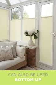 Bottom Up Roller Blinds Sheer White Perfect Fit Roller Blind For Upvc Doors U0026 Windows