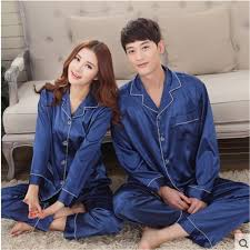for and fall sleepwear mens silk satin pyjamas