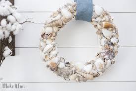 seashell wreath make it diy summer seashell wreath