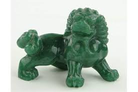 jade lion statue a spinach jade lion dog length 2 5