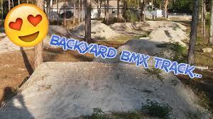 riding my backyard bmx track youtube