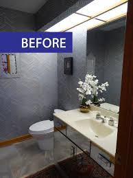 less is more an arbor powder room remodel