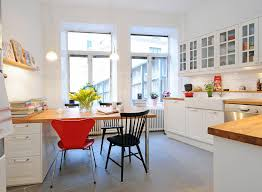 Small Kitchen Dining Room Ideas White Light Bright A Wonderful Set Of Swedish Kitchen And
