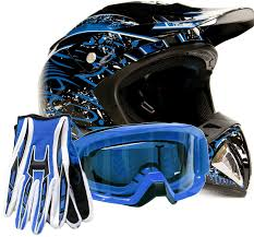 blue dirt bike boots amazon com offroad helmet goggles gloves gear combo dot