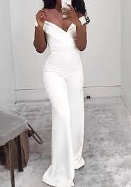 white jumpsuit white plain cut out zipper high waisted jumpsuit