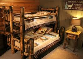 Log Bunk Bed Plans Cabin Bunk Beds Log Cabin Bunk Log Cabins Pinterest Bunk Bed