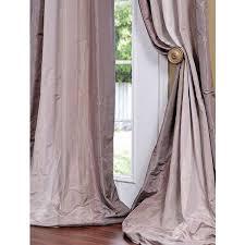 White Taffeta Curtains Reflections Faux Stripe Taffeta Curtains U0026 Drapes Window