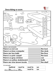 Preposition Practice Worksheets Describing A Room Trinity Pinterest Room Worksheets And