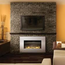 modern living room area with napoleon plazma vent free gas