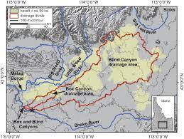 Idaho On Map Fig 2 Formation Of Box Canyon Idaho By Megaflood
