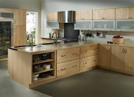 Home Wood Kitchen Design by Bathroom Light Wood Merillat Cabinets With Silver Handle Plus