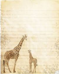 printable animal lined paper printable giraffe journal page giraffe wildlife stationery