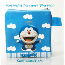 Dompet Koin Karakter mini wallet doraemon biru muda dompet koin karakter dompet anak