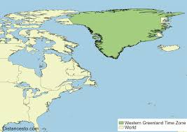 Time Zone Maps by Wgt Wgst Western Greenland Time Zone