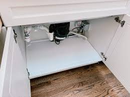how to make a sink base cabinet vance trimmable sink tray for 36 in base cabinet protects cabinets from leaks and spills adjustable spill guard for kitchen and bathroom
