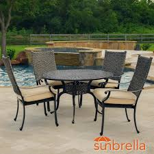 42 Inch Round Patio Table by Carondelet 5 Piece Wicker Patio Dining Set W 48 Inch Round Patio