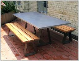 concrete wood table top concrete top picnic table cad75 com