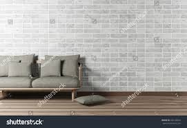 minimal loft design living room interior stock illustration