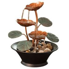 amazon com bits and pieces indoor water lily water fountain