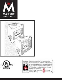 majestic appliances indoor fireplace br36 user guide