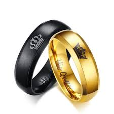 black promise rings images His and hers gold and black promise ring supremepatty jpg