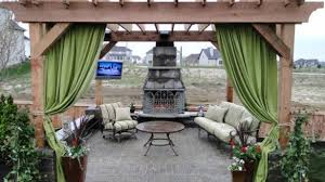 how to make outdoor curtains for pergola home designing within