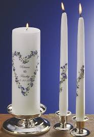 Personalize Candles Forget Me Not Wedding Unity Candles By Bridalmemories On