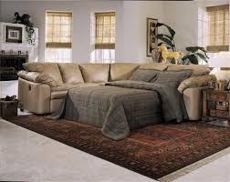 L Shaped Sleeper Sofa Living Room Grey Leather L Shaped Sleeper Sofa With Cushions And