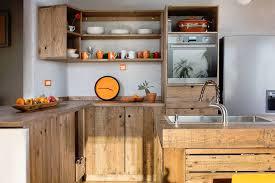 cuisine en palette bois îlot central en palette 32 idées diy pour customiser sa cuisine