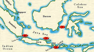 netherlands east indies map the battle of the java sea
