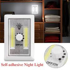 cob led wireless night light with switch 2 cob led wireless button rotation dimmer switch self adhesive