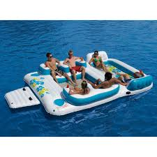 Inflatable Pool Floats by Sofina 2013 Inflatable 6 Person Pool Raft Floating Island W 2